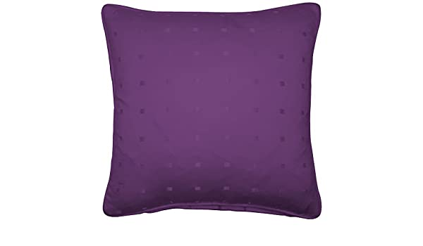 """FILLED JACQUARD CHECK PURPLE 22"""" 55CM PIPED CUSHION"""