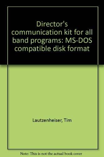 Director's communication kit for all band programs: MS-DOS compatible disk format