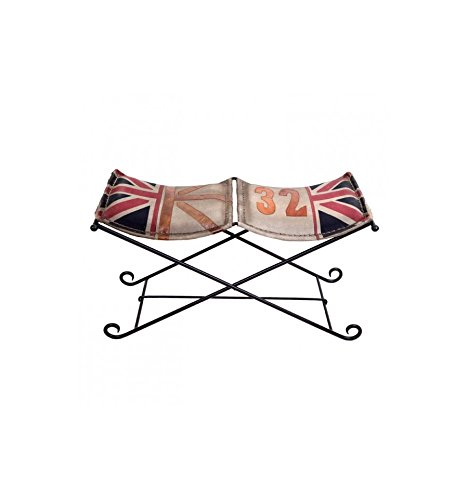 Banqueta Vintage con Bandera Inglesa: Amazon.es: Hogar