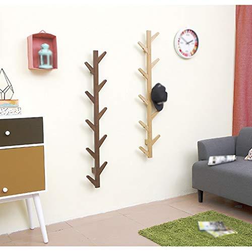 SED Coat Rack-Hanger Floor Bedroom Solid Wood Wall Hanging Living Room Modern Minimalist Sturdy Space Saving Storage Rack,10 Hooks,Vintage Color by SED (Image #2)