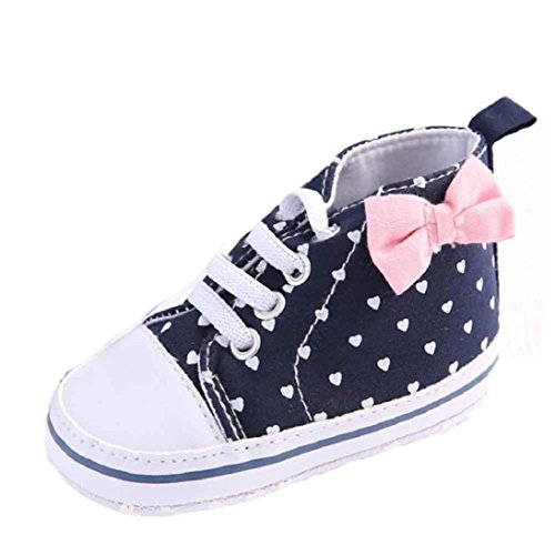 [Fheaven Baby Girl Canvas Shoe Heart shape Shoes Sneaker Anti-slip Soft Sole Toddler (US:4( Age:12~18 Month),] (12 Month Girl Costume)