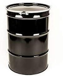 55 Gal Steel Drum Open-Head| Black | Met...