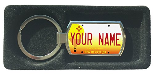 BleuReign(TM) Personalized Custom Name New Mexico State License Plate Metal Keychain