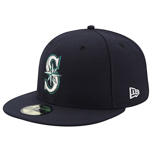 fan products of New Era 59FIFTY Seattle Mariners MLB 2017 Authentic Collection On Field Game Fitted Cap Size 7 1/4