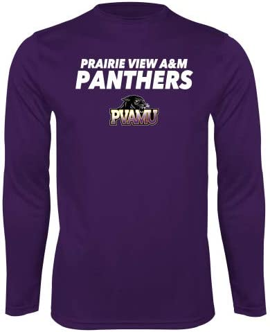 CollegeFanGear Prairie View A/&M Performance Purple Longsleeve Shirt Stacked Prairie View A/&M Panthers