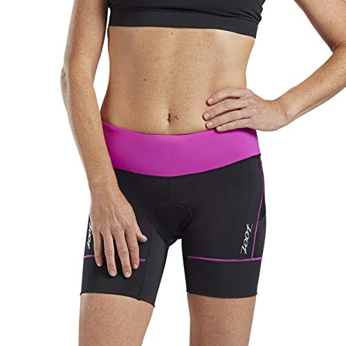 Zoot Core Womens 6-Inch Tri Shorts - Performance Triathlon Shorts with Endura Fabric and Hip Holster Pockets (Razz, Small) ()