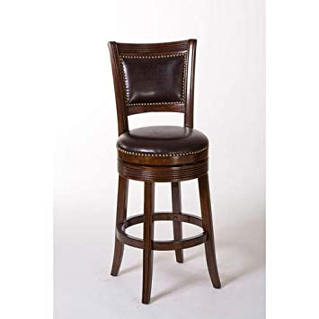 Hillsdale Furniture Swivel Counter Stool in Brown Cherry Finish