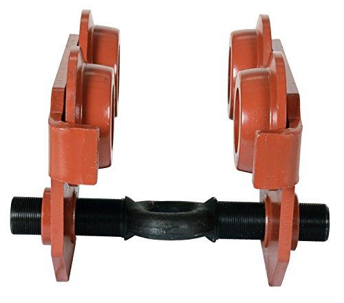 Vestil E-MT-6 Steel Low Profile Eye Manual Push Trolley, 6000 lbs Capacity, 3''- 8-5/8'' I-Beam Flange, 3-3/8'' Headroom by Vestil (Image #3)
