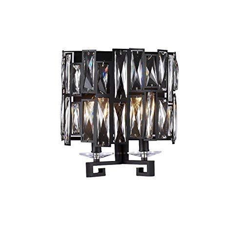 BXJ 黒鉄レトロK 9クリスタルウォールランプウォールランプリビングルームのベッドサイドライト、創造的な複数のヘッド35 * 27 cm家の照明ランプと提灯のwcバルコニーの装飾悟りの壁ランプの通路の廊下の研究 (サイズ : 35*27cm) B07R4DTTQL  35*27cm
