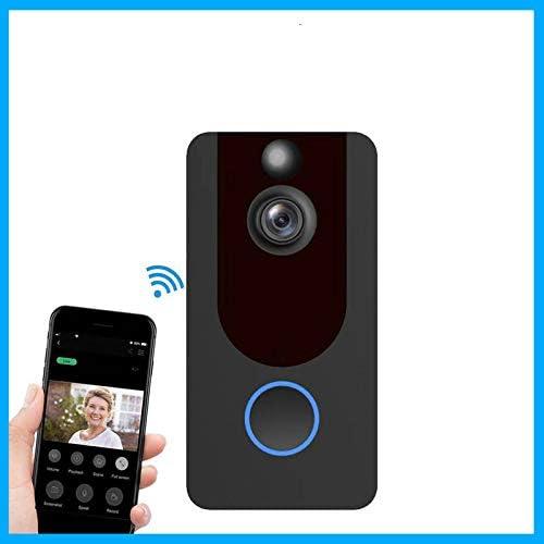 Timbre de puerta 1080P WiFi inteligente inal/ámbrico de seguridad timbre de puerta inteligente de grabaci/ón de intercomunicador remoto impermeable video nube almacenamiento tel/éfono de puerta est/ándar