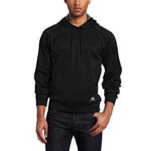 Russell Athletic Men's Technical Performance Fleece Pullover Hood Sweatshirt, Black, Medium