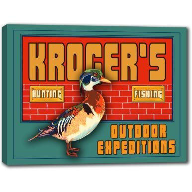 krogers-outdoor-expeditions-stretched-canvas-sign