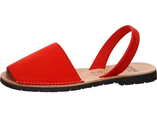 Mujer Sandalias Ria Moda Menorca 54rjla Rojo mON80Pyvnw