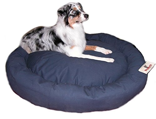 Mammoth Large Donut Dog Bed Chocolate Canvas