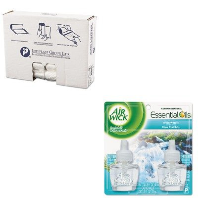 KITIBSS303710NRAC79717 - Value Kit - Air Wick Scented Oil Refill (RAC79717) and IBS S303710N High Density Commercial Coreless Roll Can Liners, Natural (IBSS303710N)