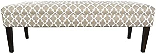 product image for MJL Furniture Designs Kaya Collection Upholstered and Padded Button Tufted Accent Bedroom Bench, Fulton Series, Ecru