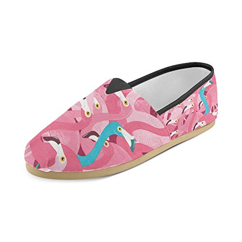 D-Story Fashion Sneakers Flats Pink Flamingo Womens Classic Slip-on Canvas Shoes Loafers 1Iyuz3Dl