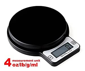 Digital Postal Kitchen Food Diet Weight Electronic Scale LB / ML / G / OZ by Skallo 5kg 11 lbs