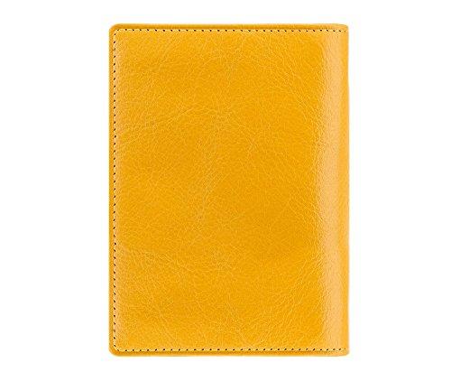WITTCHEN caso, Giallo, Dimensione: 12x9.5 cm - Materiale: Pelle di grano - 21-2-163-Y
