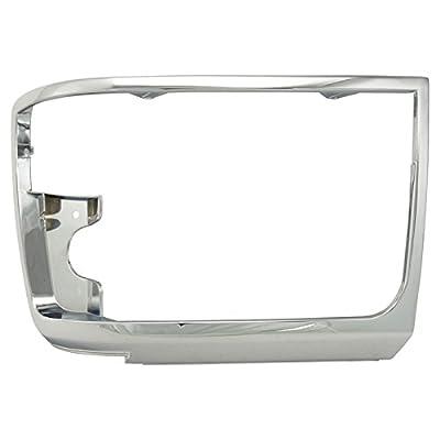 Chrome Headlights Headlamps Trim Bezel Pair Set for Bronco F150 Pickup Truck: Automotive