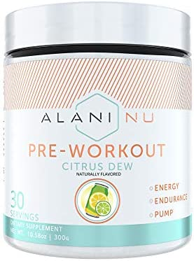 Alani Nu Pre-Workout Supplement Powder for Energy, Endurance, and Pump, Citrus Dew, 30 Servings