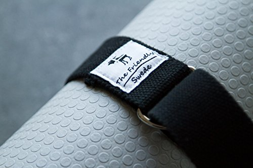 The Friendly Swede 6ft Yoga Mat Strap Sling (2 Pack)