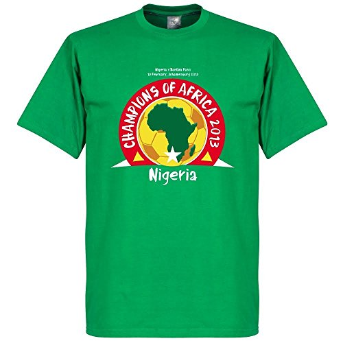 Nigeria Champions Of Africa 2013 Tee - Green - XS by Retake