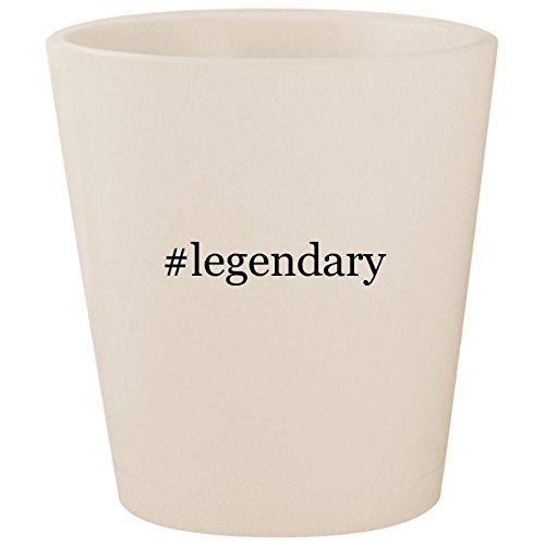 (#legendary - White Hashtag Ceramic 1.5oz Shot Glass)