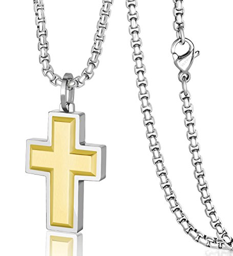 Plating Cross 22in Necklace - 4
