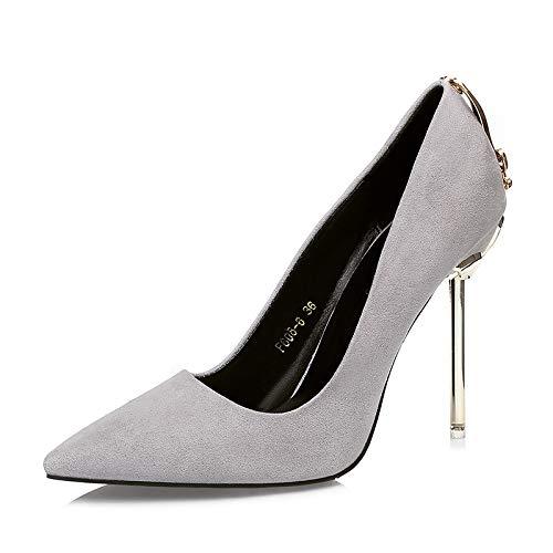 FLYRCX Mode Wildleder Spitze High Heels sexy flachen Mund Mund Mund Stiletto einzelne Schuhe Damen Hochzeit Schuhe Party Schuhe B07KYJ8Z7Z Tanzschuhe Schön cdf389