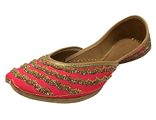 Step n Style Designer Shoes Indian Ethnic Wear Dance Balley Punjabi Jutti Flat - Fashion Balley