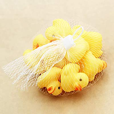 20/50pcs Safety Bath Ducky,Owill Rubber Duck Ducky Duckie Cute Mini Yellow Rubber Ducks Bathing Floating Ducky Baby Shower Toys (20): Toys & Games