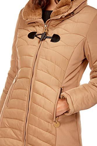 Femme Winterfactory Doudoune Creations Col Doucel Montant Camel WXq4n547p