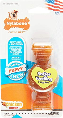 Nylabone Puppy Ring Dog Bone, Petite, 24 Pack