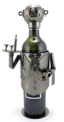 Waiter Server Butler Metal Wine Caddy Bottle Holder