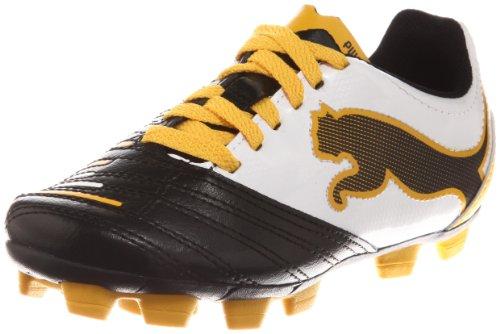 Puma PowerCat 4.12 r HG Jr 102503 Unisex - Kinder Sportschuhe - Fußball Schwarz (black-white-team yellow 05)