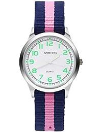 Kids Luminous Military Nylon Wrist Watch Boys Girls...