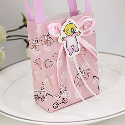 Baby Shower Chocolate - 12pcs Set Baby Boy Girl Shower Gift Favor Little Prince Birthday Party Candy Paper Bag - Wedding Wrapping Eyelash Favor Newborn Gift Supplies Gift Box Mink Party Box