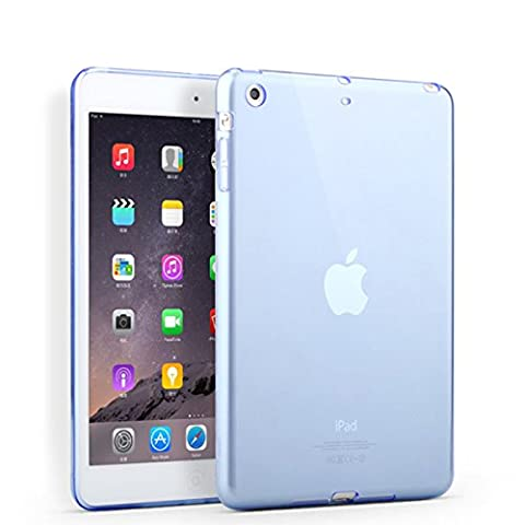 iPad mini Case, iCoverCase Ultra-thin Silicone Back Cover Colorful Clear Plain Soft TPU Gel Rubber Skin Case Protector Shell for Apple iPad Mini 1/2/3 (Ipad 3 Soft Gel Case)