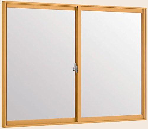 トステム インプラス 引き違窓 2枚建 単板ガラス 幅550~1000mm×高1001~1400mm 5mm透明ガラス 枠色:ライトウッドG オーダー商品