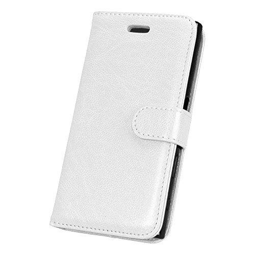 SRY-Caso sencillo Para Sony Xperia X Caja compacta, PU + TPU con ranura para tarjeta, ranura de efectivo, soporte magnético hebilla Teléfono Shell Protección reforzada ( Color : Green ) White