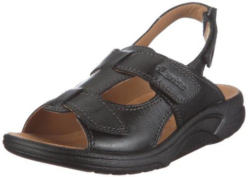 Ganter AKTIV Fabia, Weite F 1-202380-0100 - Sandalias de vestir de cuero para mujer Negro