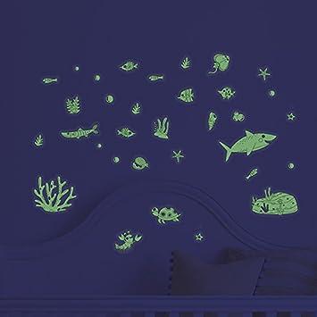 under the sea decorative peel glow in the dark ocean