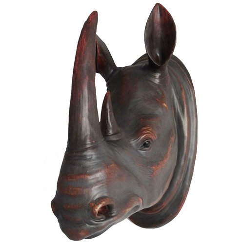Modern Home Safari Jungle Animal Wall Plaques - Rhino
