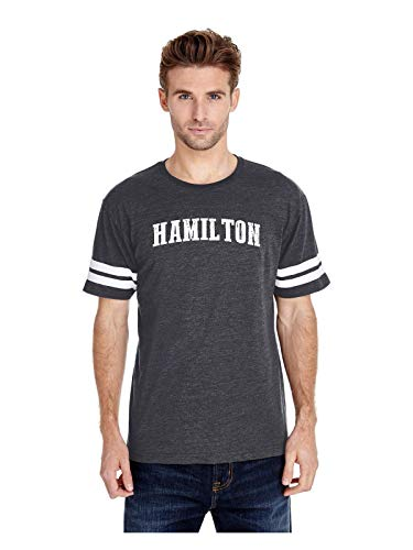 Hamilton City Ontario Canada Traveler Gift Adult Unisex Football Fine Jersey Tee (MHNB) Heather Navy]()