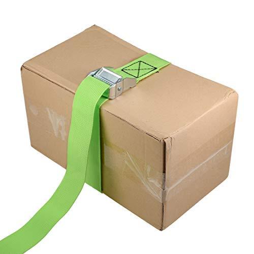 Green 0.8M x 38mm Tie Down Strap Load tie Down Straps with cam Lock Buckle 500 kg workload