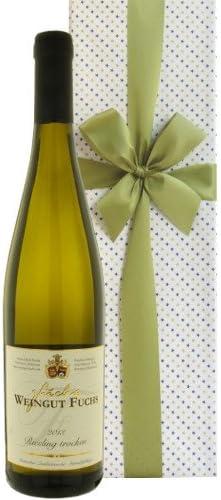 [スポンサー プロダクト]お祝い 結婚祝い 結婚記念日 誕生日【ワインのギフト】ドイツ産 白ワイン 辛口 ヴァイングート・フックス「リースリング・トロッケン」750ml 箱入り ラッピング付き【ギフト】贈答用 贈り物 プレゼント