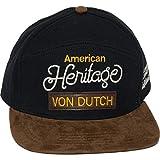 Von Dutch Unisex Denim Red/White Patch Logo Trucker Hat