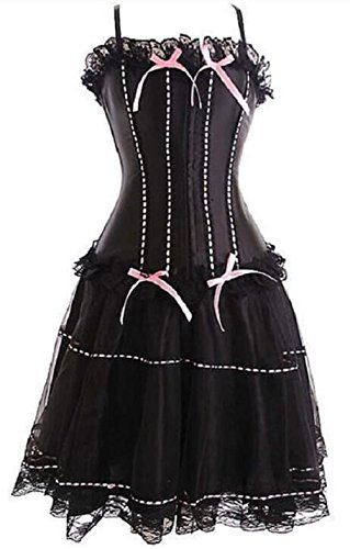 [Lorembelle Moulin Rouge Corset & Skirt Fancy Dress Outfit Costume Plus sizes (6XL /US 18, pink)] (Pink Moulin Rouge Costumes)