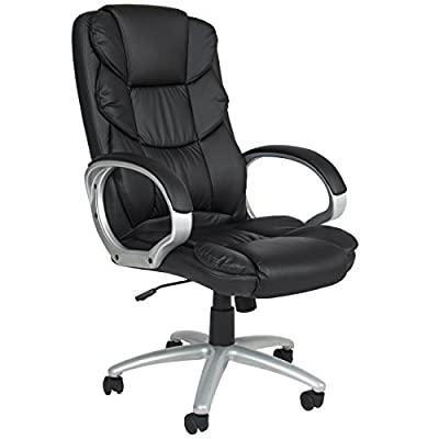 Best Choice Products PU-Leather Ergonomic High Back Executive Office Chair w/Rolling Base, Adjustable Height - Black by Best Choice Products